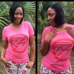 Pink Not Bougie Shirt Pink Not Bougie Shirt Tops Tees - Short Sleeve