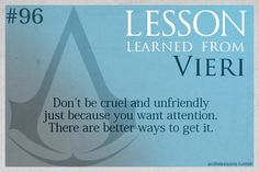 Assassin's Creed Life Lessons — (submitted by find-a-way-out-of-here)