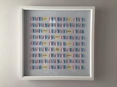 """Image of Bears - Large (17"""" sq.) - Pink Polka Dots and Light Blue Chevrons"""