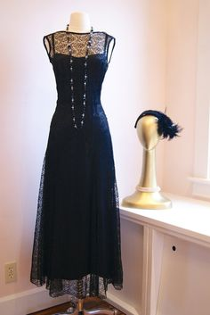 20s Dress // Vintage 1920s Lace Dream Gown by xtabayvintage, $298.00