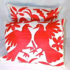 Otomi Pillow Cover Set Of 2 II pink, pillows & throws, throw pillow covers