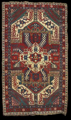 "Antique Karabagh ""Kasim Ushag"" rug, late 19th century, Elisabethpol Governorate (Елизаветпольская губерния), Zangezur Uyezd. 158 x 262 cm."