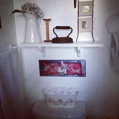 Bathroom/laundry room downstairs!! - @allaboutthecozy- #webstagram