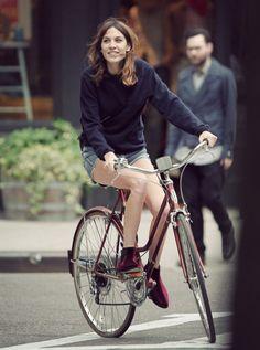 Alexa on her bike