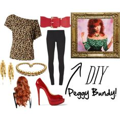 """DIY Peggy Bundy Halloween Costume"" by bngrawe on Polyvore"