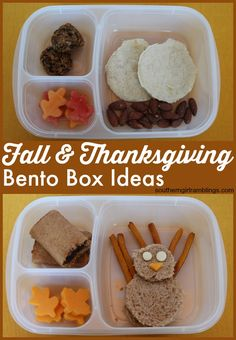 Need lunch ideas for kids? Check out these Fall & Thanksgiving Bento Boxes, made healthier with NatureBox snacks! #Fall4NatureBox