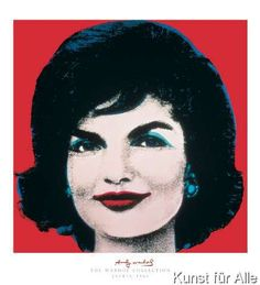 Andy Warhol - Jackie, 1964 (on red)
