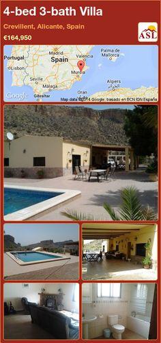 4-bed 3-bath Villa in Crevillent, Alicante, Spain ►€164,950 #PropertyForSaleInSpain