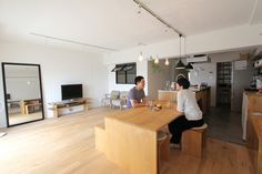LIVING/DINING/リビング/ダイニング/フィールドガレージ/FieldGarage INC./リノベーション Home Design Diy, House Design, Lofts, Living Room Interior, Home Living Room, Japanese Interior, Japanese House, Simple House, House Rooms