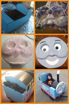 Thomas Birthday Parties, Thomas The Train Birthday Party, Trains Birthday Party, Blue Birthday, Wagon Halloween Costumes, Halloween Crafts, Halloween Party, Halloween Ideas, Thomas The Train Costume