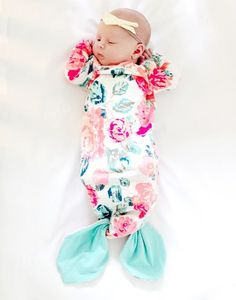 Mermaid Baby Gown free sewing pattern and Tutorial