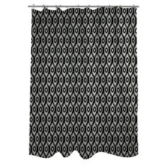 One Bella Casa Kelly Ikat Woven Polyester Shower Curtain | AllModern
