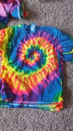 Pretty color tie dye shirt