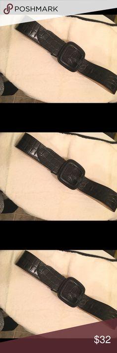 Banana Republic embossed leather belt Black embossed Banana Republic belt XS Banana Republic Accessories Belts