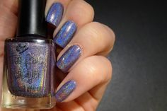Midnight Sonata - blueish purple linear holo   Swatched by Deborah from Love Varnish and More