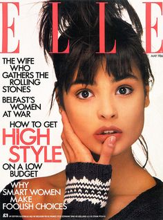 Talisa Soto  -  Elle UK May 1986