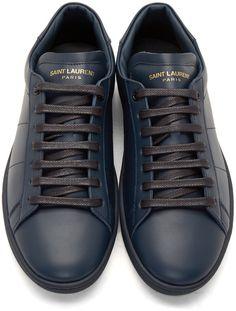 Saint Laurent: Navy SL/01 Low-Top Sneakers | SSENSE