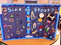 """Our class Science Project was called """"Sink or Float."""" We found items around the classroom and brought some from home. We dropped them in t..."""