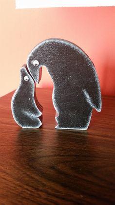 Pinguino a incastro in legno , by Lapinoma idee in legno e non solo, 12,00 € su…