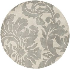 Surya ATH-5116 Athena Hand Tufted Wool Rug Off-White 9 1/2 x 9 1/2 Round Home Decor Rugs Rugs