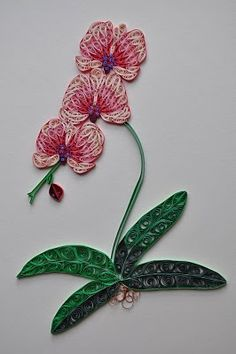 quilling Beautiful orchids! These I might even be able to keep alive! ;)