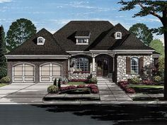ePlans Ranch House Plan – Sophisticated French Country Ranch – 2731 Square Feet and 3 Bedrooms from ePlans – House Plan Code HWEPL77911