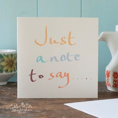 Just to Say by GabriellasShop on Etsy