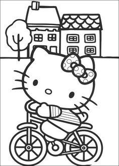 Adorables dibujos para pintar de Hello Kitty