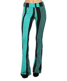 Love this Jade Stripe Flare Pants by Pretty Young Thing on #zulily! #zulilyfinds