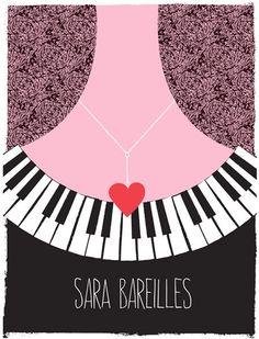 Sara Bareilles gig poster.