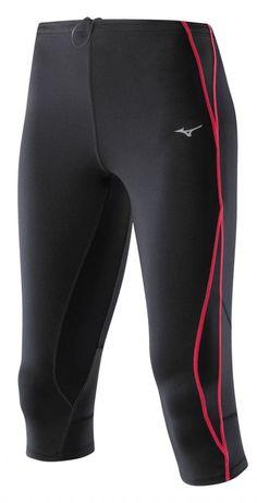Spodnie do biegania Mizuno BioBear BG3000 3/4 Tights Black Red | MALL.PL