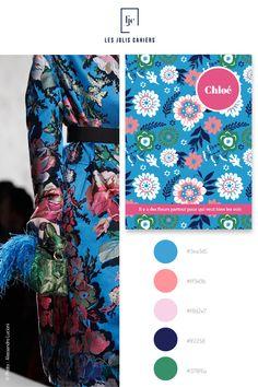 Créez votre cahier personnalisé à partir de jolies nuances qui suivent les tendances de la mode et de la déco. #nuancier #palette #inspiration #rose #bleu #vert #mode #vogue #defile #SS2020 #cahier #notebook #personnalise #lesjoliscahiers Le Jolie, Alexander Mcqueen Scarf, Palette, Vogue, Inspiration, Duck Egg Blue, Shades, Paper Mill, Flowers