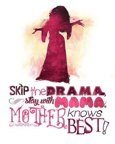 Tangled Mother Gothel Knows Best 8x10 Poster by LittoBittoEverything