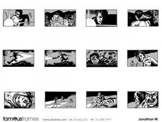 FamousFrames Storyboards, Animatic Artists, Storyboard Artists, Jonathan Woods