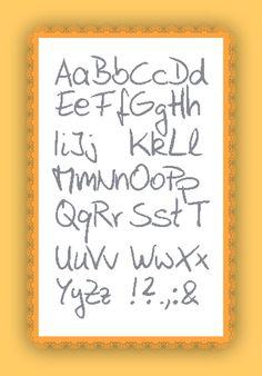 Kreuzstich Stickvorlage yayaya  ABC alphabet