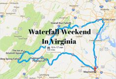 Here's The Perfect Weekend Itinerary If You Love Exploring Virginia's Waterfalls