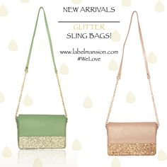 Go Feminine with the Glitter Sling Bags heart emoticon #NewArrivals - http://www.labelmansion.com/what-s-new.html #labelmansion #bags #whatsnew #slingbags #welove #bags #cute #glitter #slings #girls #girly #feminine #ladies #women #girls #fashionbloggers #stylists #checkout #shoponline #labelmansion.com