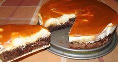 Cheese Cake με Παντεσπάνι Σοκολάτας και Καραμέλα