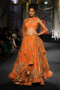 Orange lehenga by Shantanu Nikhil #lehenga #choli #indian #hp #shaadi #bridal #fashion #style #desi #designer #blouse #wedding #gorgeous #beautiful