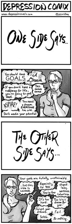 Setting goals - but they're unattainable. #depression depcom.185.col.400px