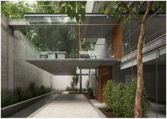 Carapicuiba House. Architects: Angelo Bucci & Alvaro Puntoni. Render by SandroS using Thea Render.