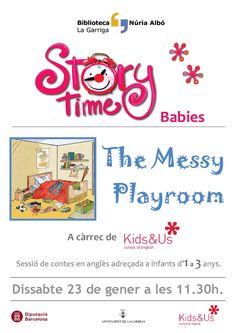 Hora del contes en anglès per a nadons Biblioteca Núria Albó de #laGarriga www.lagarriga.cat