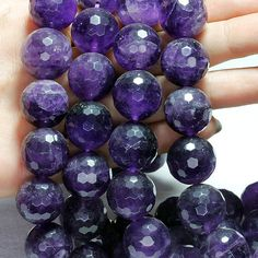 Items similar to Wholesale Amethyst Stone, 8 mm & 16 mm. Faceted Round Amethyst Beads, Material for Jewelry Making on Etsy Semi Precious Beads, Amethyst Stone, Old And New, Jewelry Making, Presents, Trending Outfits, Unique Jewelry, Handmade Gifts, How To Make