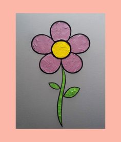 Flower 16 x 20 in. Canvas #LiteralPopArt #PopArt #Art #VisualArt #Flowers #Petals #Nature #Garden Organic #Green #GoingGreen #Purple #Lavender #MichaelCrayola #2017