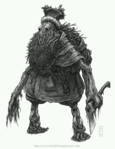 is a male woodland spirit in Slavic mythology believed to protect wild animals and the forests.Leshy is a male woodland spirit in Slavic mythology believed to protect wild animals and the forests. Creature Feature, Creature Design, Magical Creatures, Fantasy Creatures, Forest Creatures, Folklore, Skyrim, Eslava, Vikings