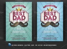 Fathers Day Flyer by DesignWorkz on @creativemarket