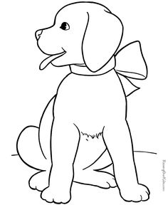 dog color pages printable Cute puppy pictures to color 085 dog