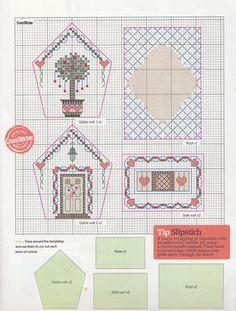 natty's cross stitch corner: Christmas Cottage Ornament