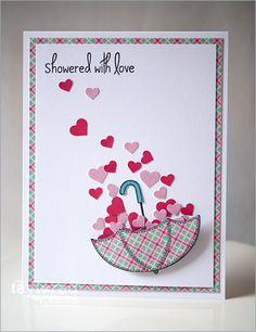 Showered with Love Card by Regina Mangum