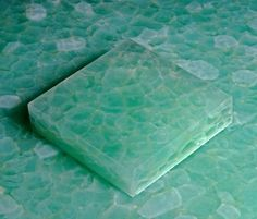 GeoGlass, Recycled Glass Tile from Glass and Glass | MATERIALS and SOURCES. Master bathroom. Lighting at edges?
